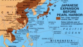 Map Of Imperial Japan 1939