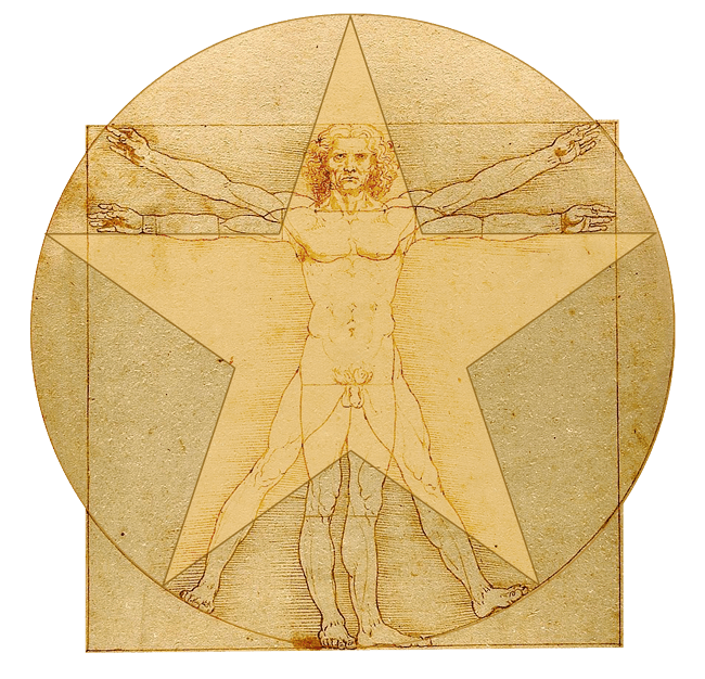 Vitruvian Man Star