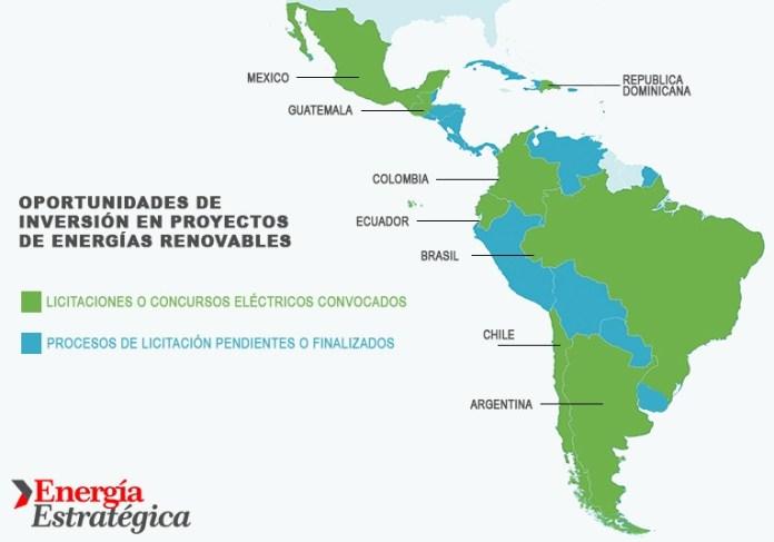 Los ocho países de Latinoamérica que anunciaron licitaciones y concursos eléctricos para desarrollar energías renovables