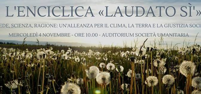 4 novembre a Milano: convegno sull'enciclica Laudato si'