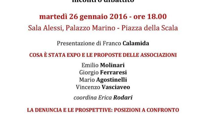 Milano 26 gennaio: Expo la festa è finita!