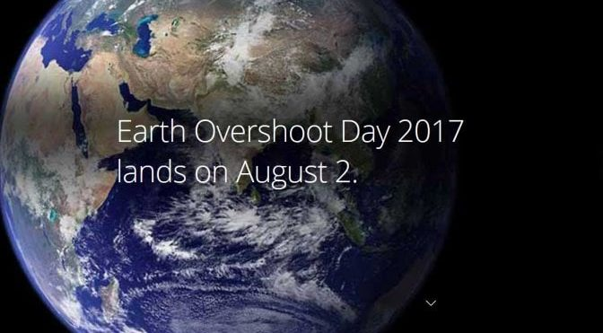 2 agosto: Overshoot Day 2017
