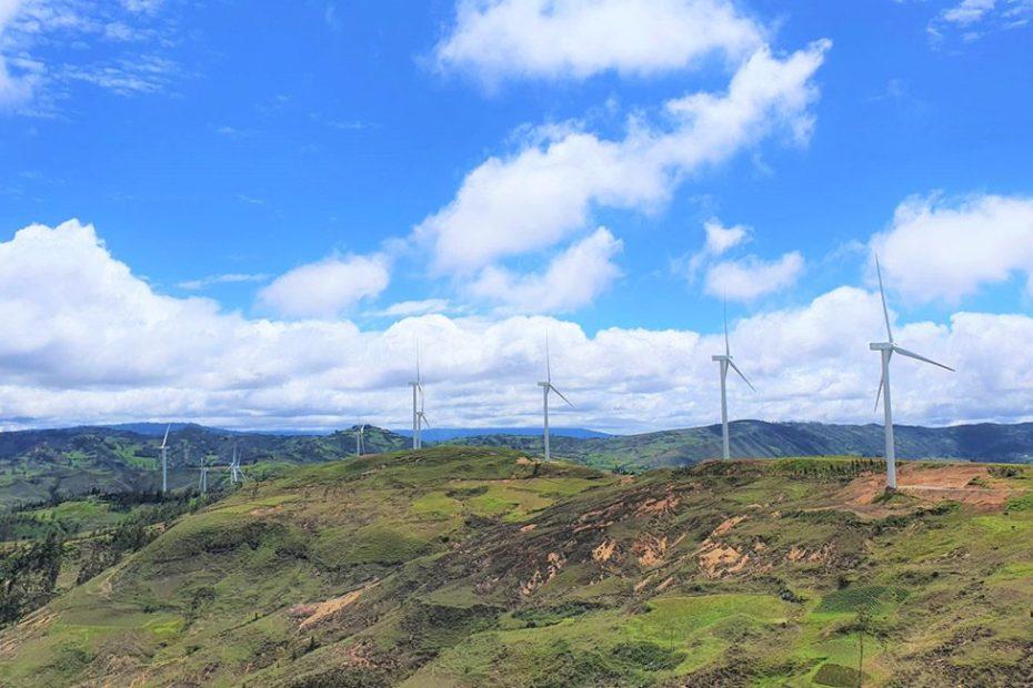 Top 5 países energía eólica América del Sur