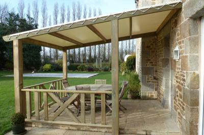 pergola bois pour terrasse mobil home