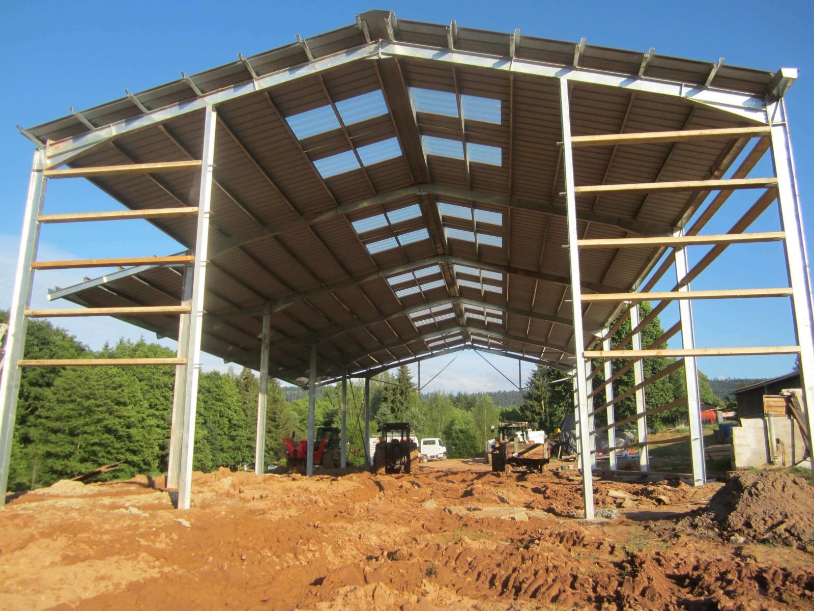plan batiment agricole en bois