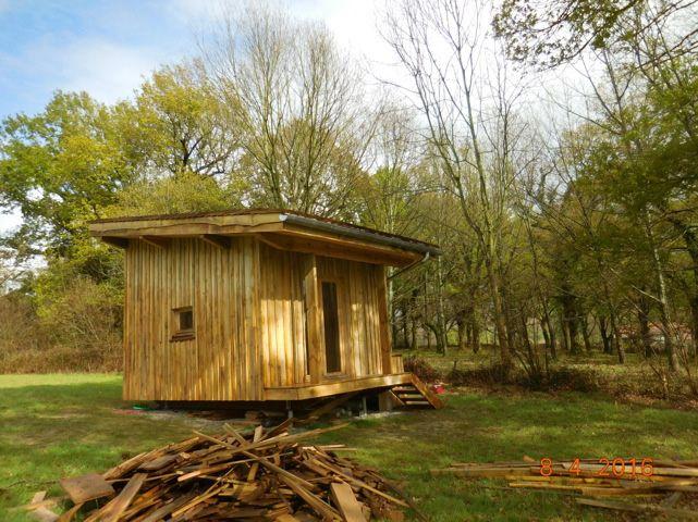 plan maison bois jardin