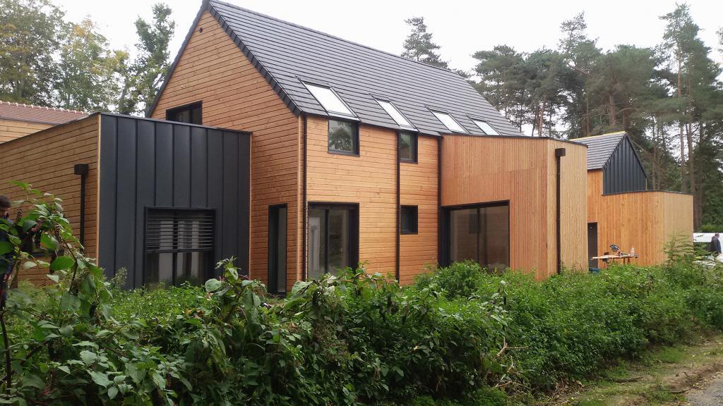 plan maison ossature bois kit