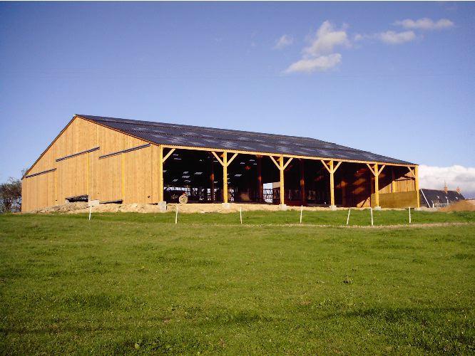 batiment agricole bardage bois