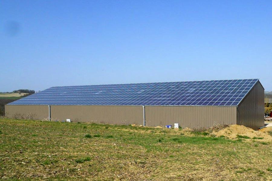 batiment agricole bois photovoltaique