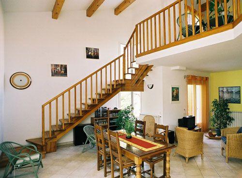 plan maison bois avec mezzanine