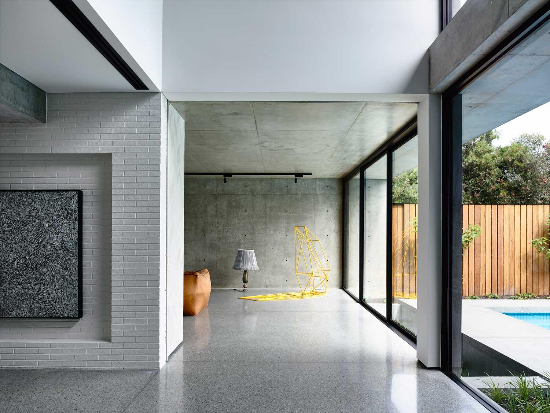 plan maison bois contemporaine piscine