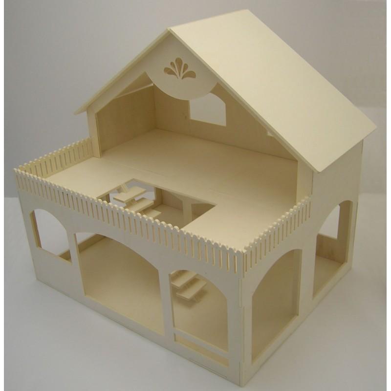 plan maison bois jouet