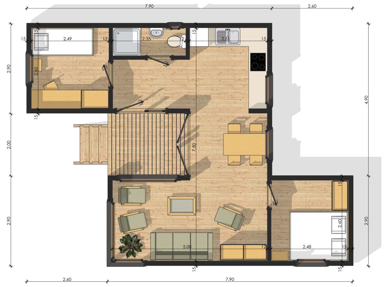 plan maison en bois en ligne