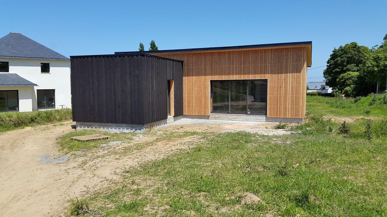 plan maison ossature bois bretagne