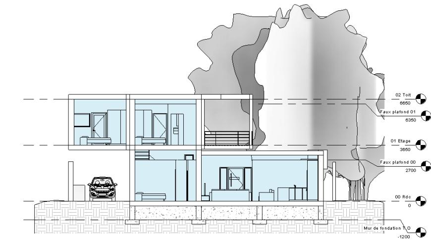 maison avec garage sous sol