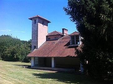 intérieur maison avec mezzanine