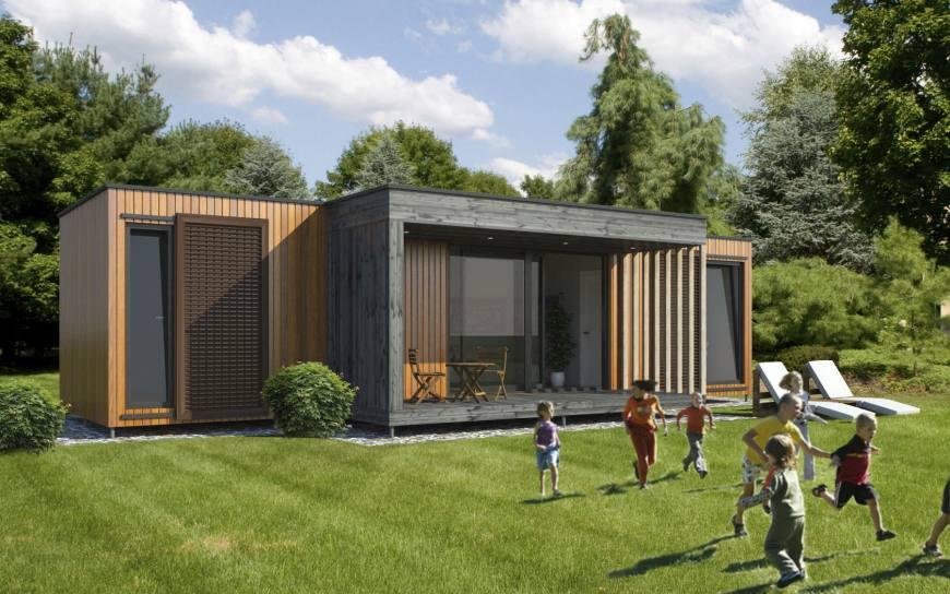 maison en bois contemporaine prix
