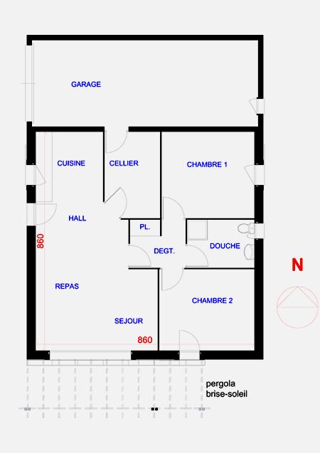 plan 3d maison 100m2