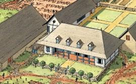 plan maison carrée