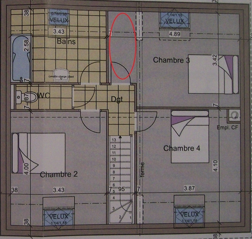 plan maison 90m2
