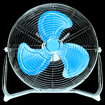 le ventilateur refroidit les personnes