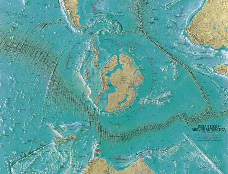 mapa - Nacisté vybudovali na Antarktidě velké základny