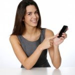 Girl holding a smartphone asking how much does a mobile website cost?
