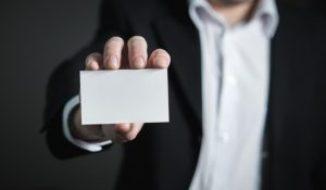 a blank card