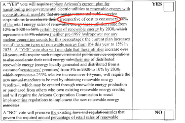 A key aide to Attorney General Mark Brnovich inserted edits to the language describing Prop 127 for voters which aligned with utility APS' position on the initiative.