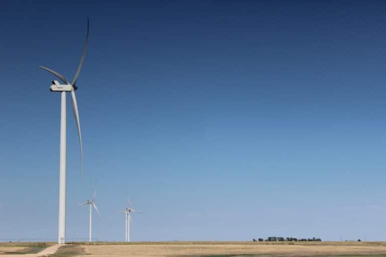 Xcel Energy wind turbines in Texas.