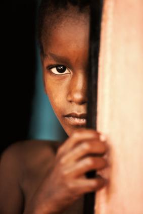 child in the door