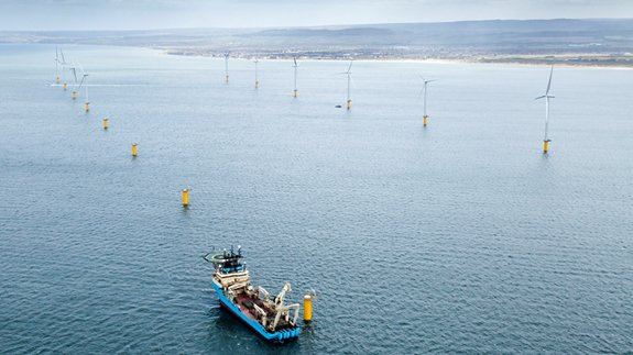 Teeside offshore wind farm. Image: EDF Group