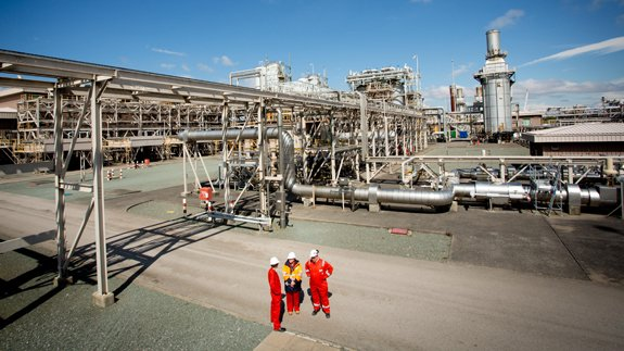 Barrow Gas Terminal. Image: Centrica Energy
