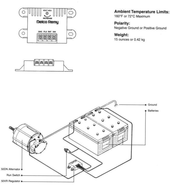 delco remy 50dn alternator wiring diagram  visio diagrams
