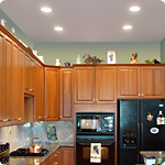 LED Downlights in a kitchen