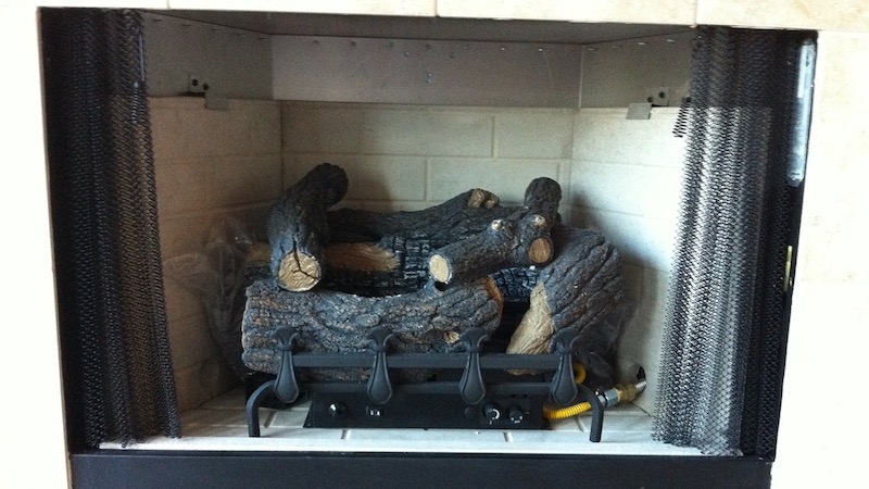 Unvented Gas Log Fireplace