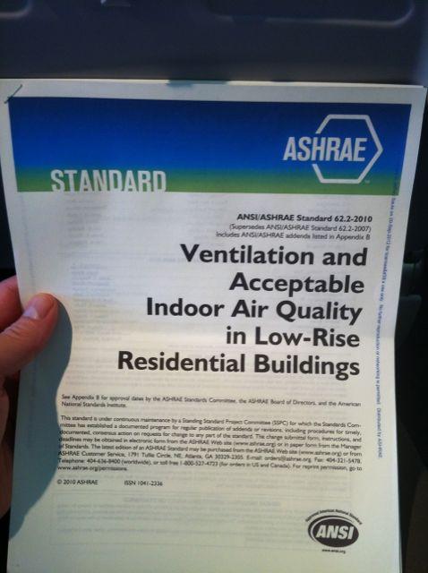 ASHRAE Standard 62.2 For Residential Ventilation