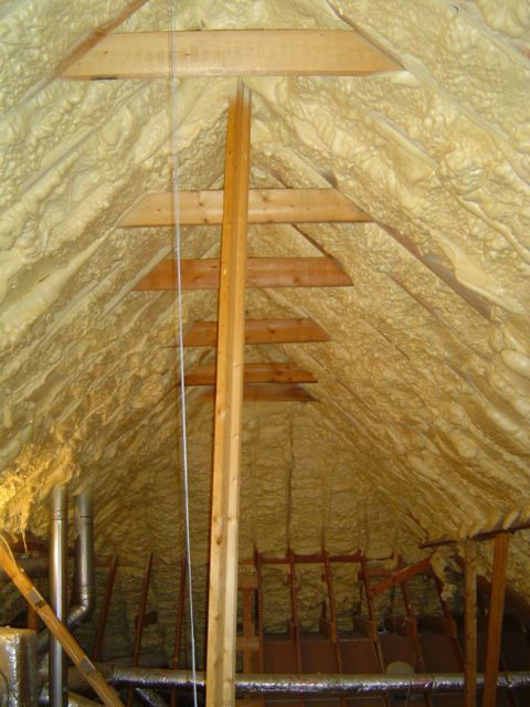Using Indoor Air For Combustion Appliances In A Spray Foam Insulated Attic