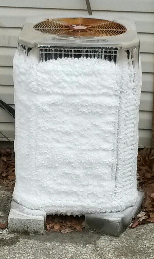 Heat-pump-hvac-frozen-outdoor-unit-winter-kentucky