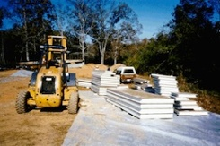 SIP Structural Insulated Panels Laid Out For Assembly