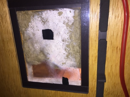 Condensation behind interior insulation on exterior sheathing