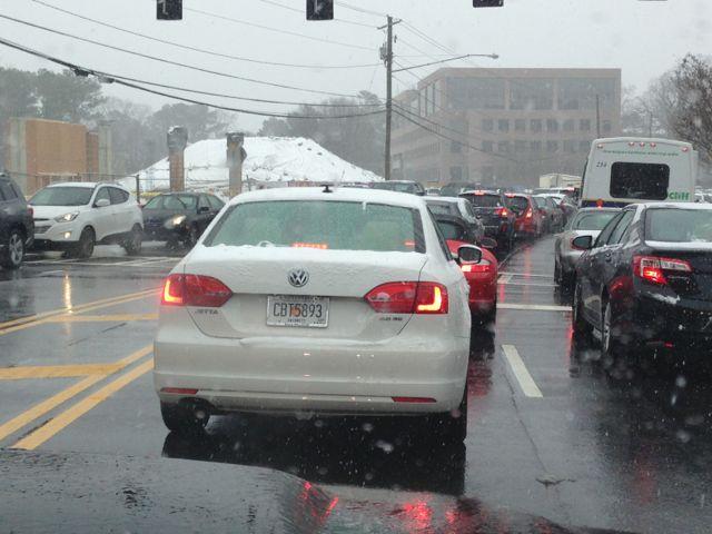 Atlanta 2014 Snow Storm Gridlock Traffic Nightmare