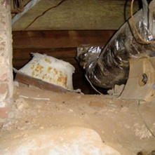 Crawl Space Duct System Moisture Mold Nasty Iaq
