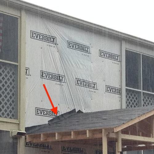 House Wrap Flashing Details Moisture Management Problem