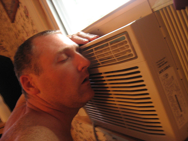 Air-conditioner-window-unit-hvac-cool-man-comfort