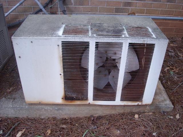 Old-air-conditioner-condensing-unit