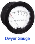 Dwyer magnehelic pressure gauge