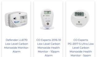 Low level carbon monoxide monitors at TruTech Tools