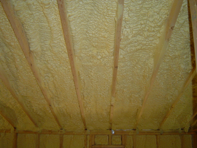 Closed-cell spray foam insulation is one of the safest ways to insulate the top of the house