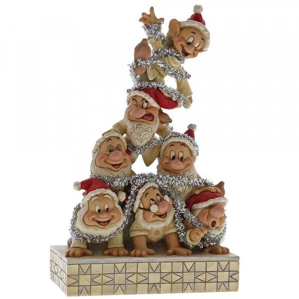 Precarious Pyramid Seven Dwarfs Figurine Enesco